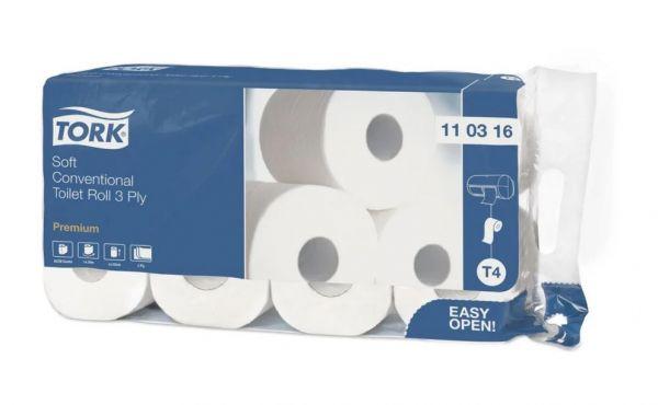 Tork Kleinrollen Toilettenpapier T4 Premium 8 Rollen