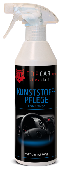 TOP CAR Kunststoffpflege mit Tiefenwirkung - Reifenpflege - 500ml Sprühflasche