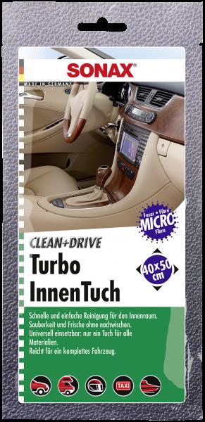SONAX Clean+Drive TurboInnenTuch 40x50 Thekendisplay 1 Stk.