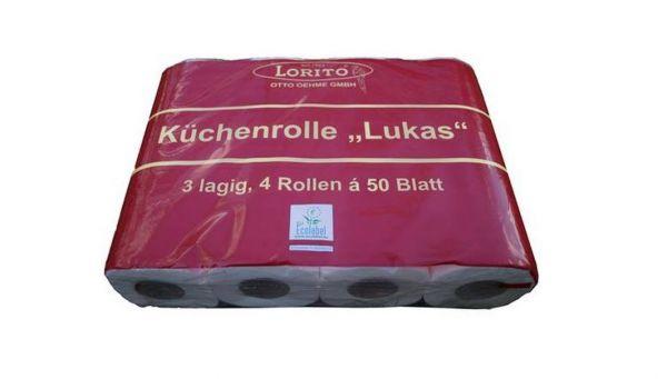 """Küchenrolle """"Lukas"""" Küchenhandtuch Küchentuch 4er - Pack"""