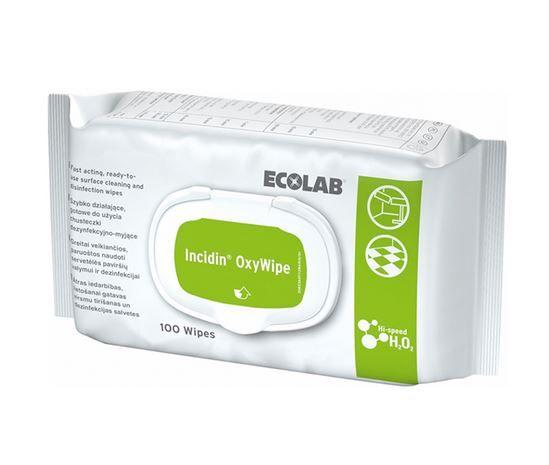 Ecolab Incidin OxyWipes 100 Tücher Flächendesinfektion