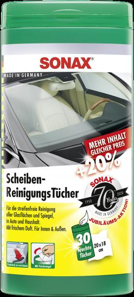 SONAX ScheibenReinigungsTücher Box 25 Stk.