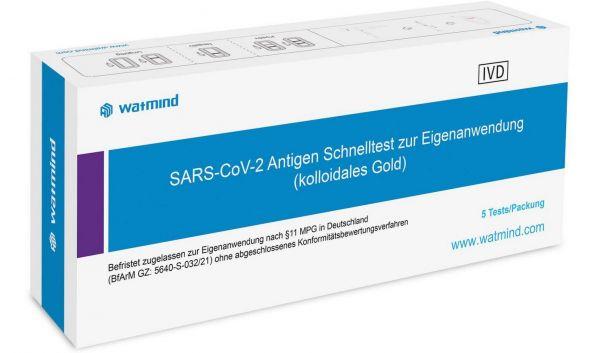 Watmind Laien-Test COVID-19 (SARS-Cov-19) Antigen Speichel Schnelltest - 1er Pack