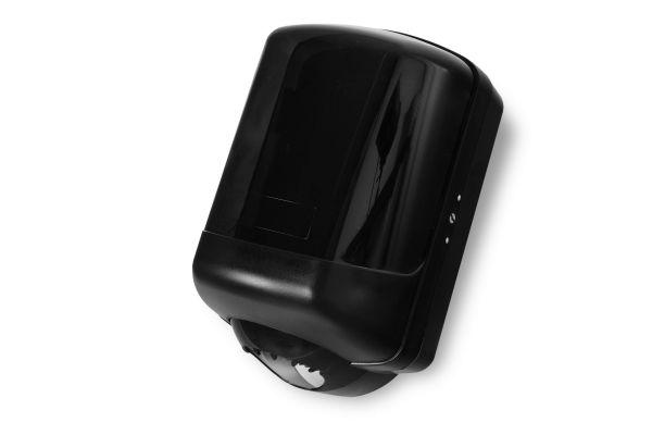 Handtuchrollenspender transparent-schwarz, MIDI