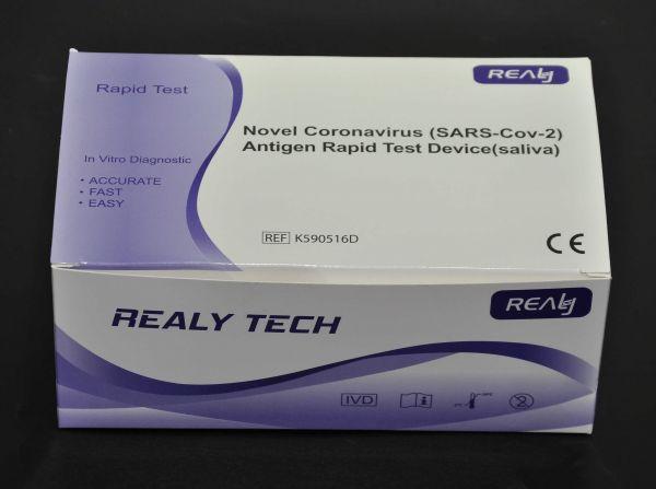 REALY TECH COVID-19 (SARS-Cov-2) Antigen Corona Speichel Schnelltest - 20er Pack