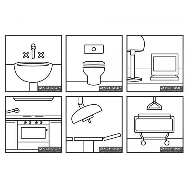 Vermop Piktogramm selbstklebend (Set mit 6 Motiven)