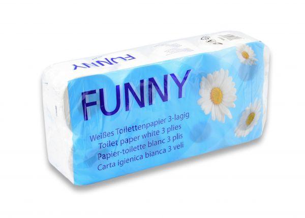 Toilettenpapier 8 Rollen 250 Blatt 3-lg hochweiß