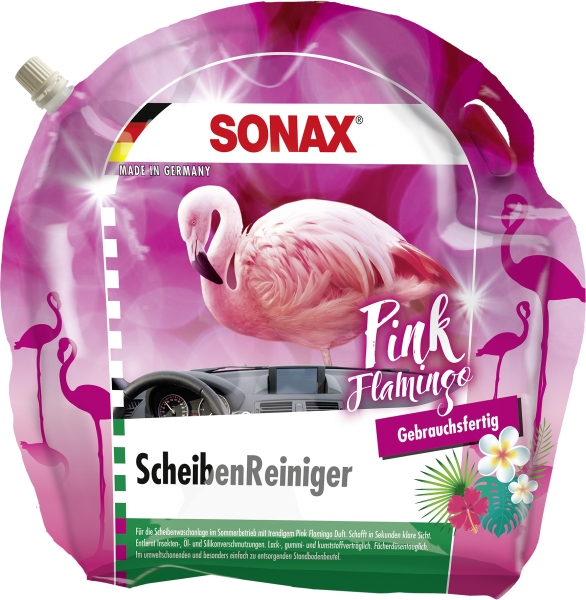 SONAX ScheibenReiniger gebrauchsfertig Pink Flamingo 3l