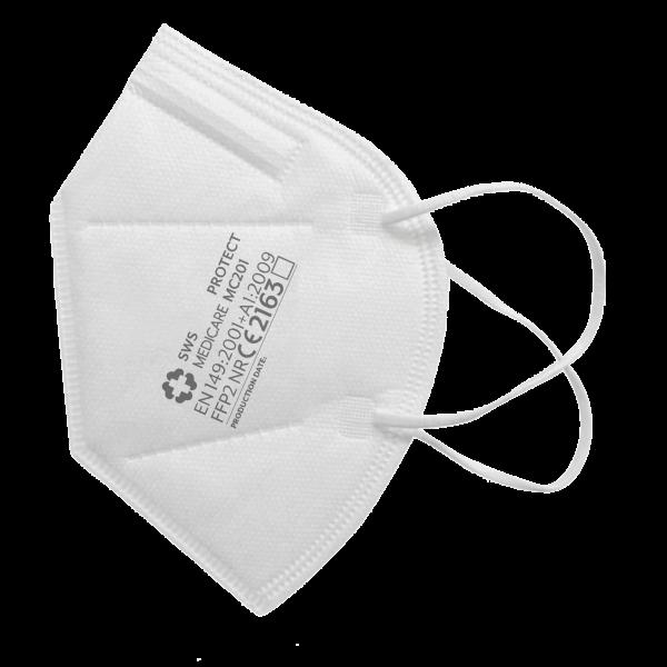 FFP2 Atemschutzmaske CE2163 - Made in Germany - SWS Medicare - einzeln verpackt