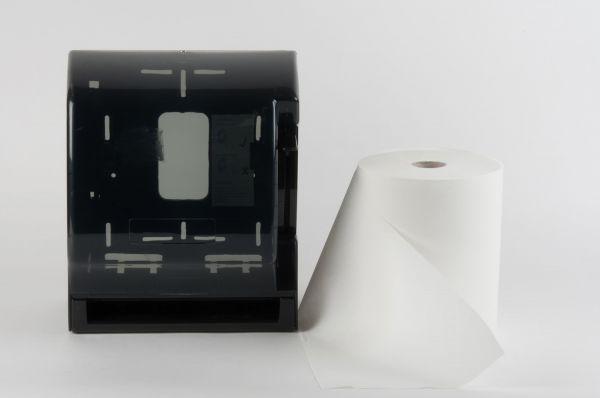 Handtuchrollenspender transparent