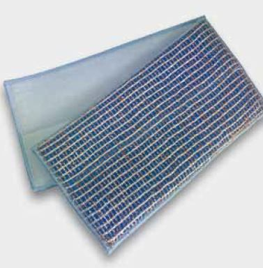 Kupferpad blau/kupfer 27x13cm