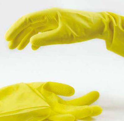 Schutzhandschuhe Latex PROFI gelb