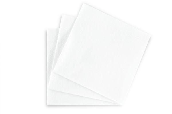Serviette 1.500 St., 33 x 33 cm, 3 lagig, hochweiß, 1/4 Falz