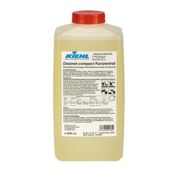 Kiehl Desinet compact Konzentrat 2l / 5l Desinfektionsreiniger Konzentrat