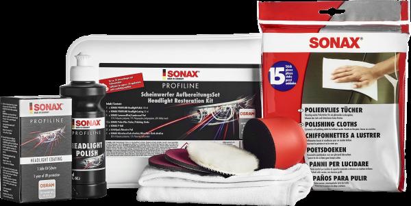 SONAX PROFILINE ScheinwerferAufbereitungsSet 325ml