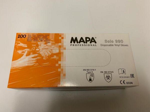 MAPA Einweg Vinyl Untersuchungshandschuhe transparent