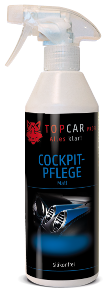 TOP CAR Cockpit Pflege matt silikonfrei 500ml Sprühflasche