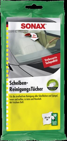 SONAX ScheibenReinigungsTücher 10 Stk.