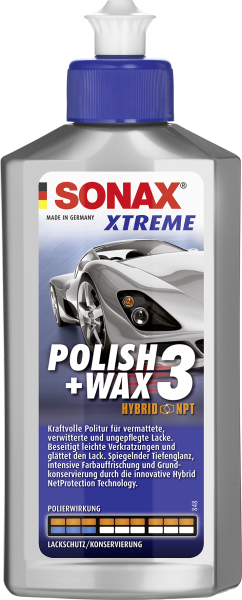 SONAX XTREME Polish+Wax 3 Hybrid NPT 250ml