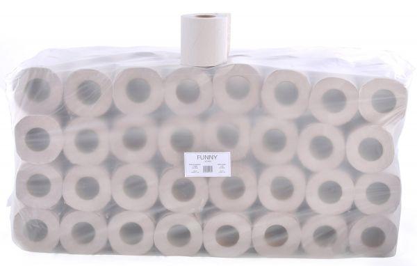 Toilettenpapier 64 Rollen,1-lagig 400 Blatt Recycling