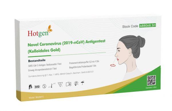 Hotgen Novel Coronavirus (2019-nCoV)-Antigentest (Kolloidales Gold) - 1er Pack