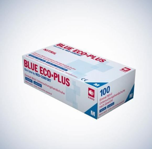 Ampri Blue Eco-Plus Einweg Nitril Untersuchungshandschuhe blau