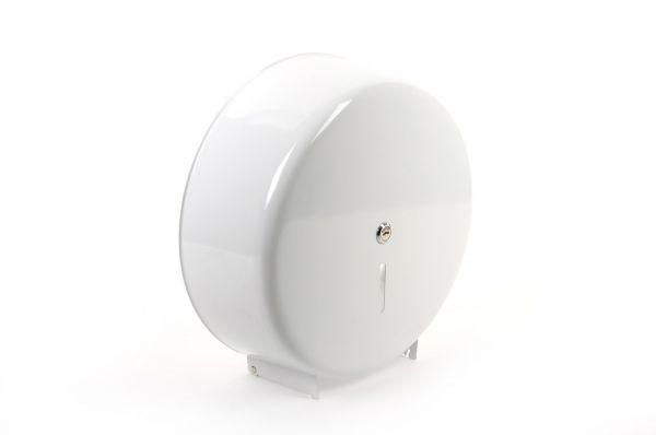 Toilettenpapierspender Jumborollen, Metall weiß