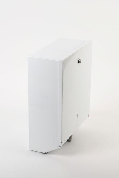 Falthandtuch-Spender Metall, weiß, für ca. 500 Stk