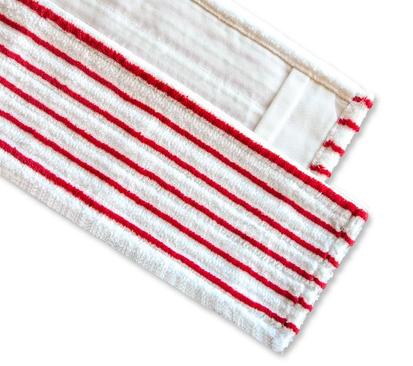 Microfasermopp PREMIUM rot gestreift 40cm / 50cm