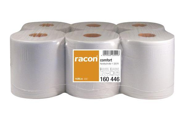 Racon comfort Handtuchrolle 1-lg, Tissue, weiß, 6 Rollen à 320 Meter