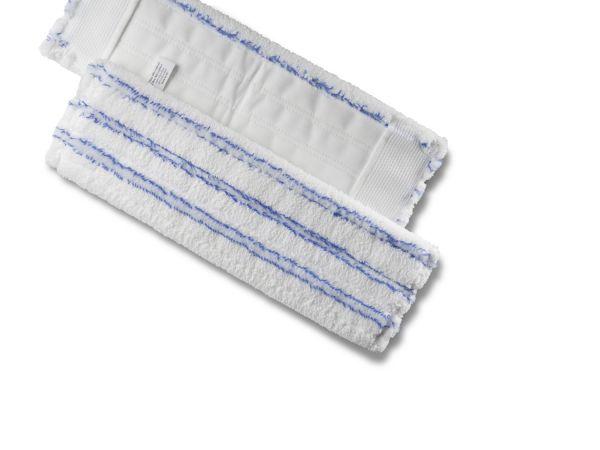 Flachpressenmopp PREMIUM blau gestreift 40cm