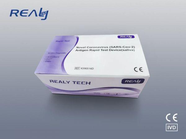 REALY TECH COVID-19 (SARS-Cov-2) Antigen Saliva Speichel Schnelltest - 20er Pack