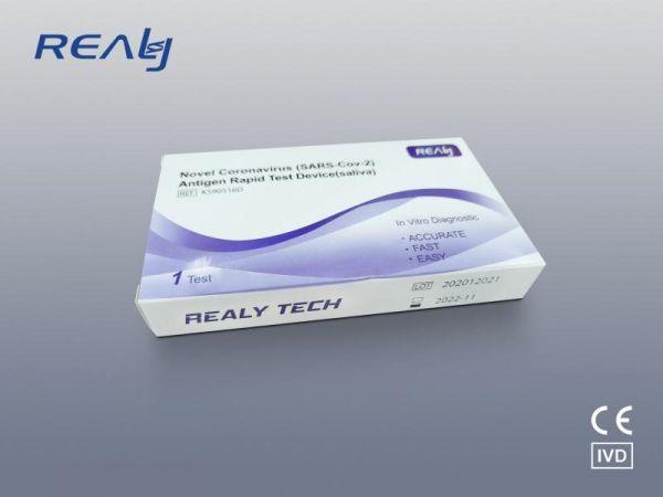 REALY TECH COVID-19 (SARS-Cov-2) Antigen Corona Speichel Schnelltest - 1er Pack