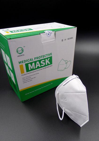 FFP2 N95 medizinische Atemschutzmaske - BfArM gelistet - einzeln verpackt