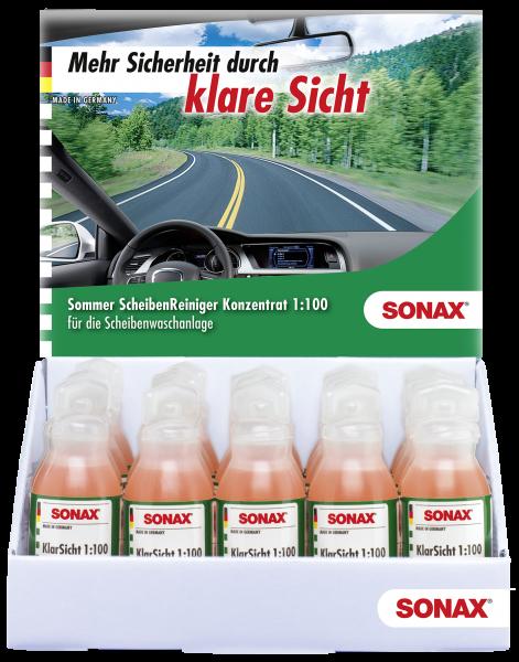 SONAX KlarSicht 1:100 Konzentrat Thekendisplay 25 ml