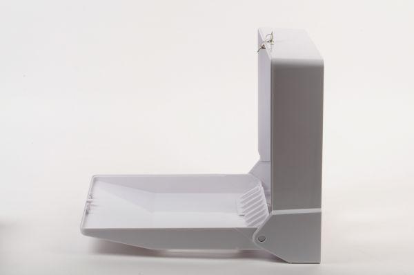 Falthandtuch-Spender Kunststoff, weiß, für ca. 600 Stk