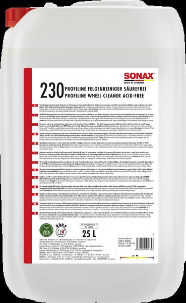 SONAX FelgenReiniger säurefrei 25l